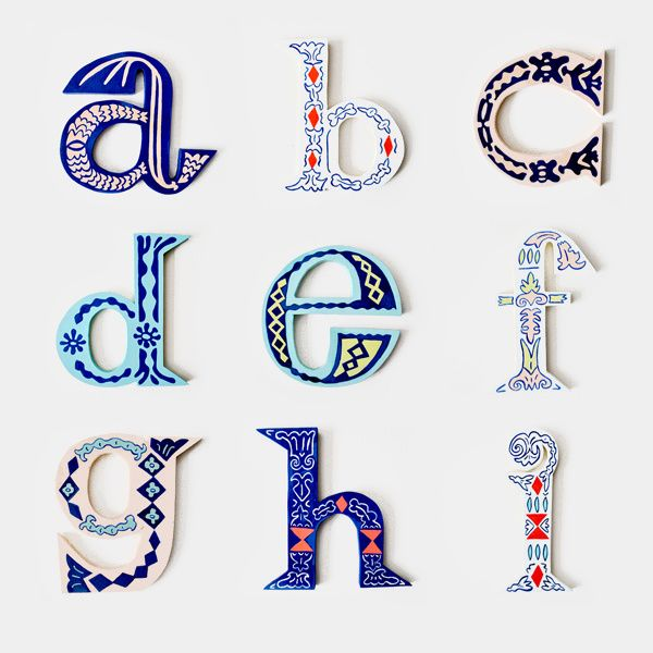 Adore These Hand Cut Out Letters  Fun Design Details