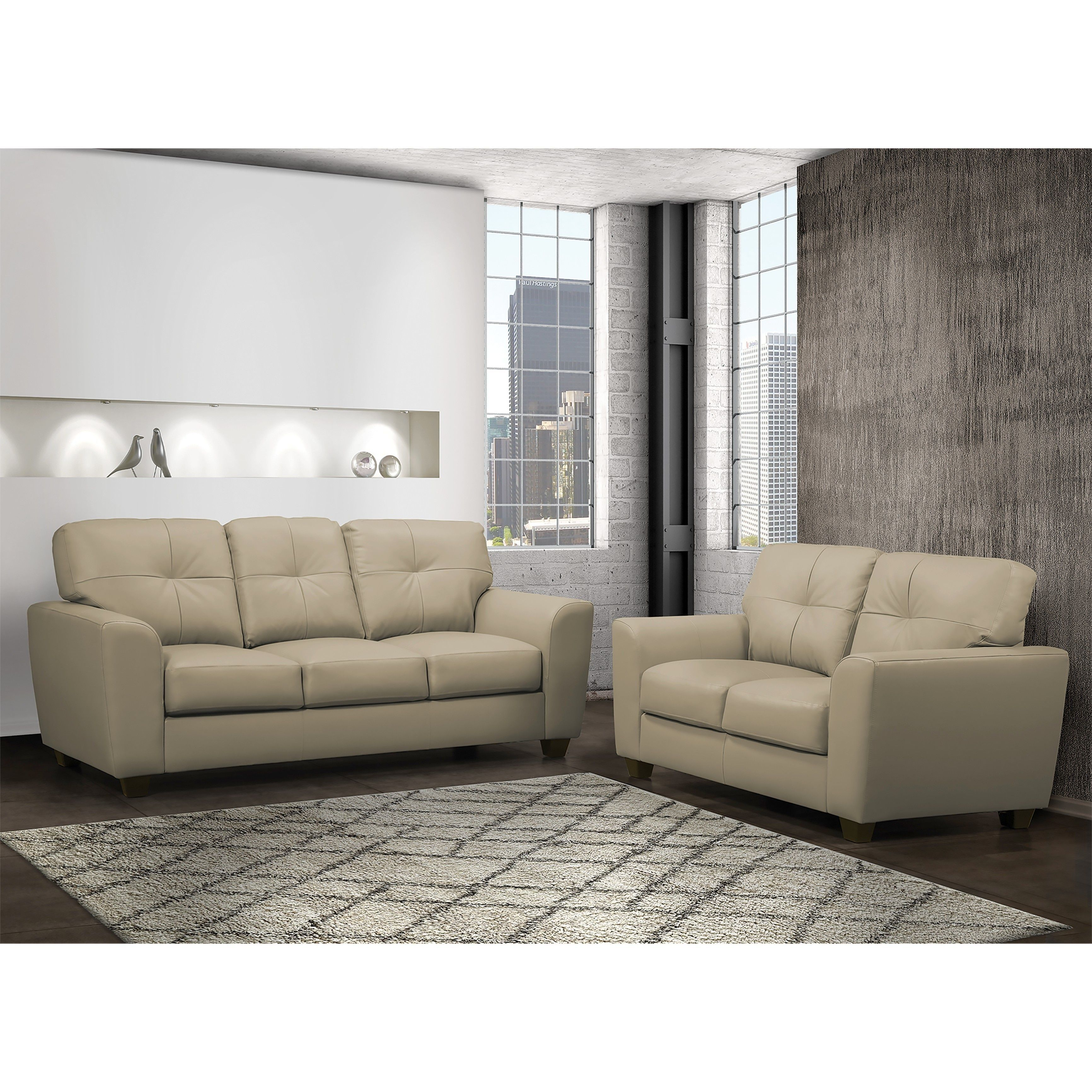 bahama taupe brown top grain leather sofa and loveseat set rh pinterest com