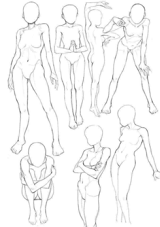 Female. Poses | art tutorials | Pinterest | Female poses, Pose and Draw
