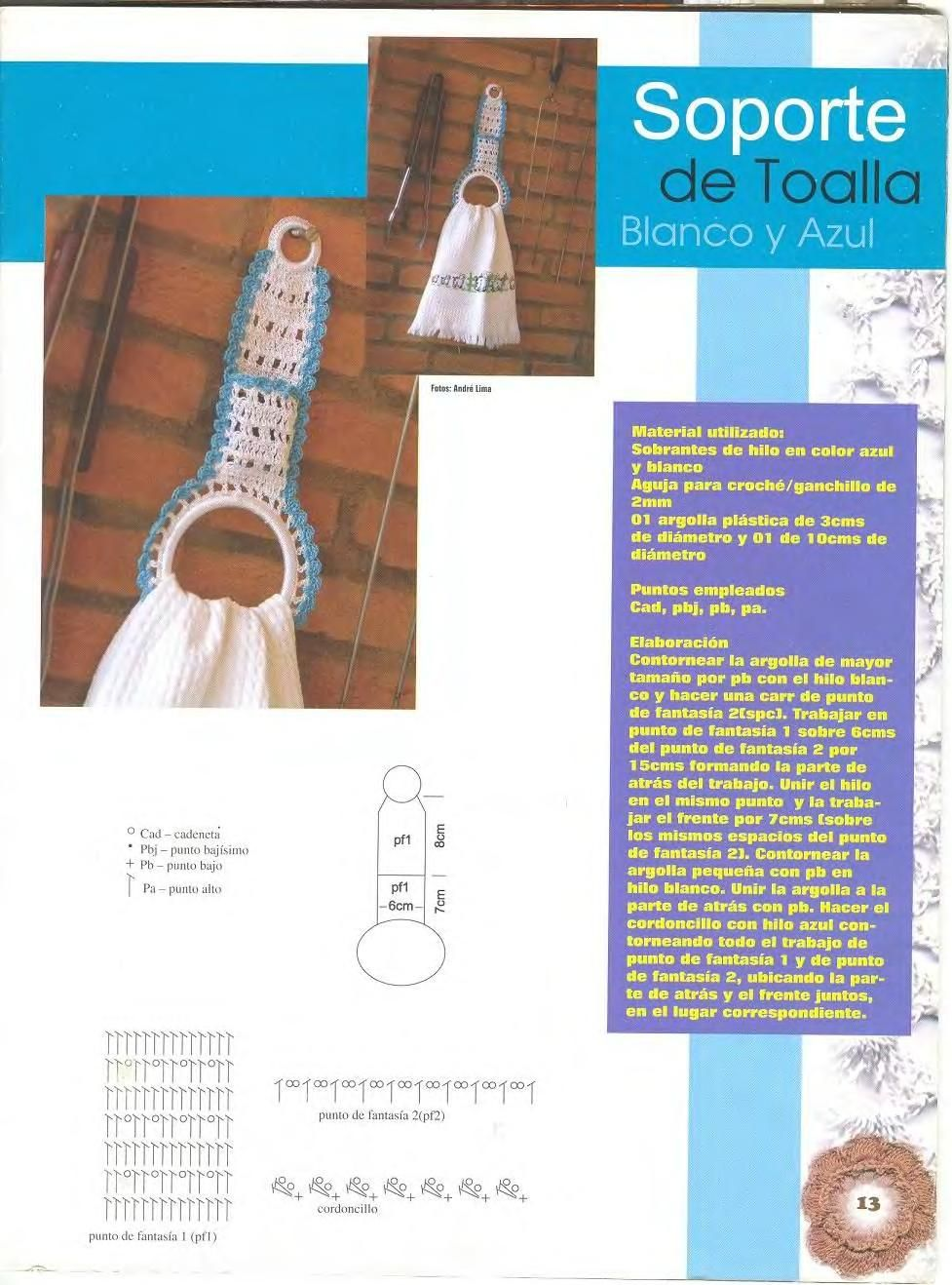 Excelente Los Patrones De Crochet Acolchados Toalla Patrón - Ideas ...