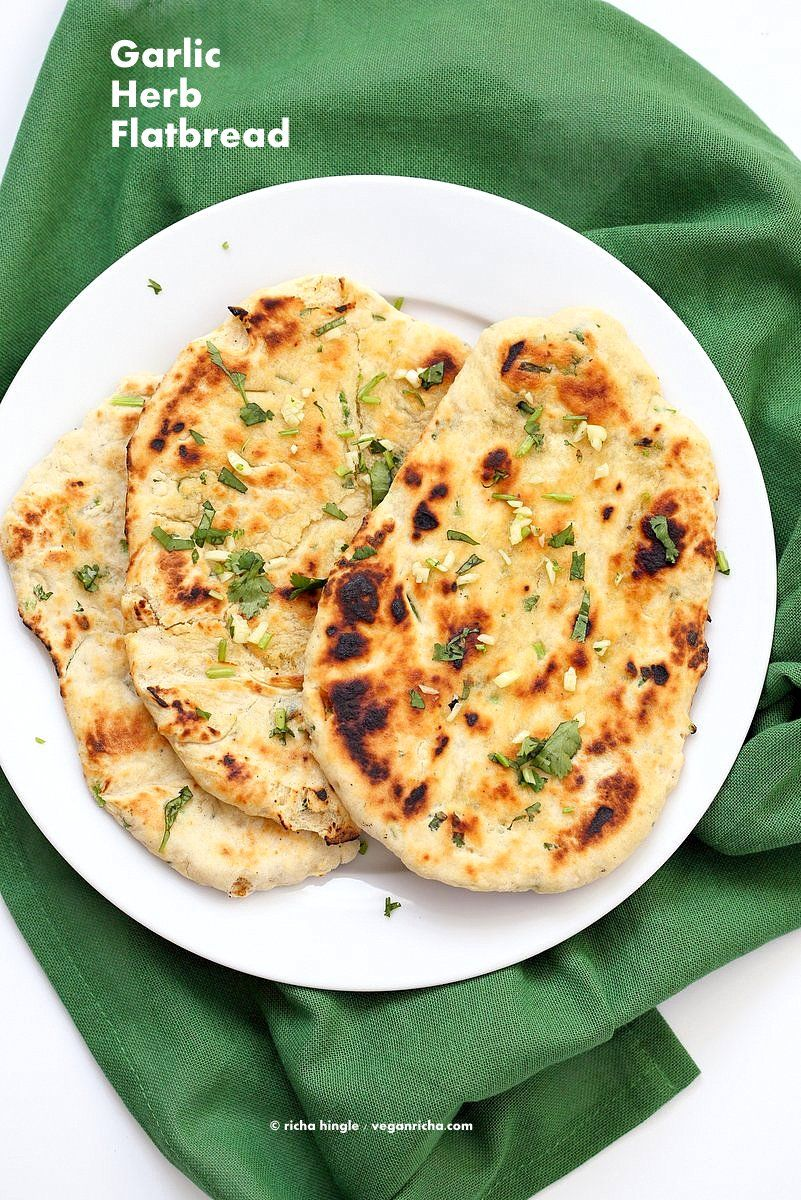 Herb Garlic Flatbread Recipe No Yeast Recipe With Images
