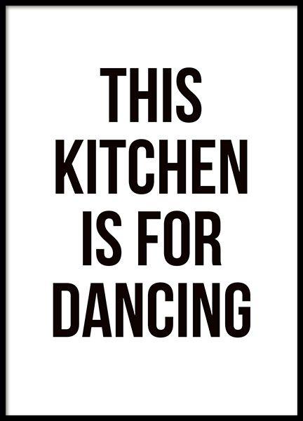 Küchenposter dancing poster mit text für die küche desenio