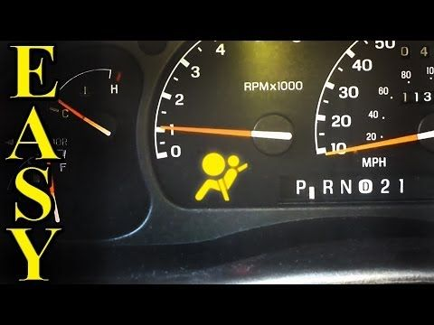 How To Reset The Check Engine Abs And Airbag Light Without A