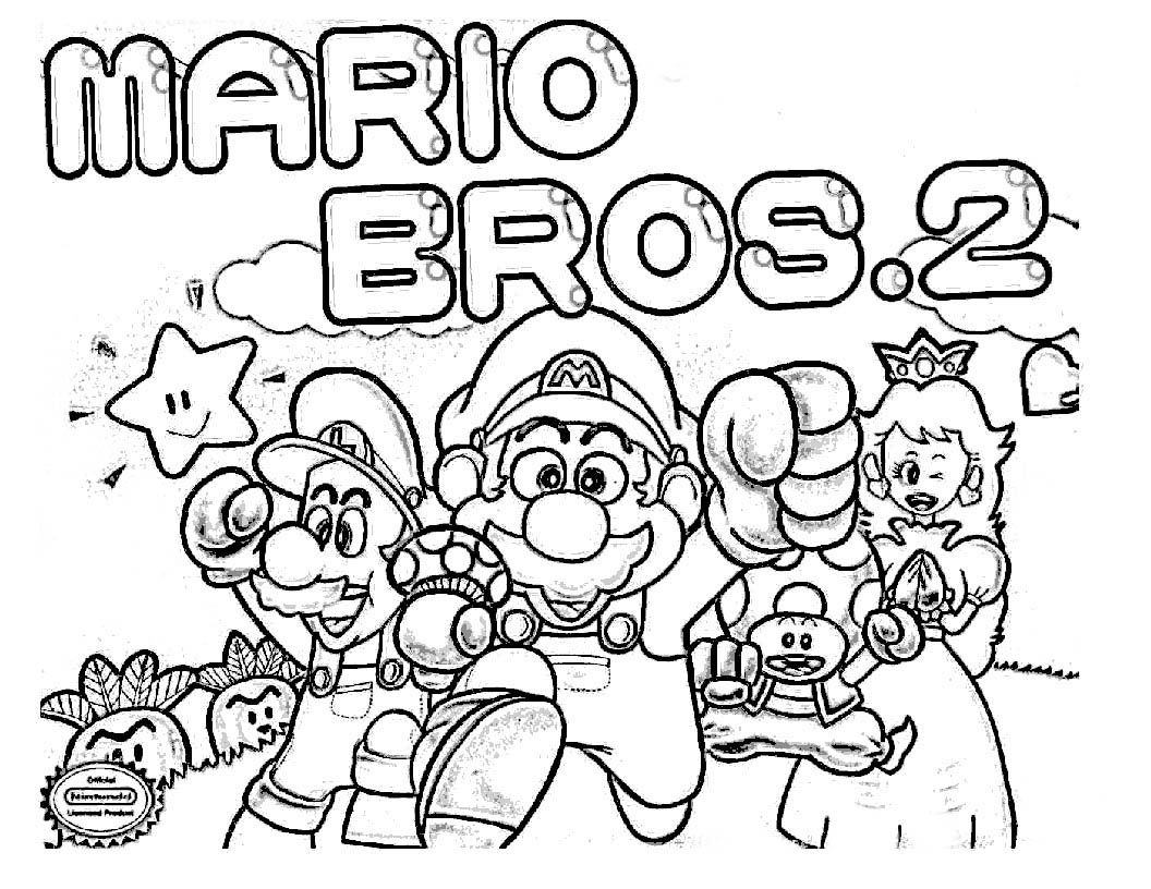 Dibujos Para Pintar De Mario Bros Mario Bros Para Colorear Libro De Colores Paginas Para Colorear