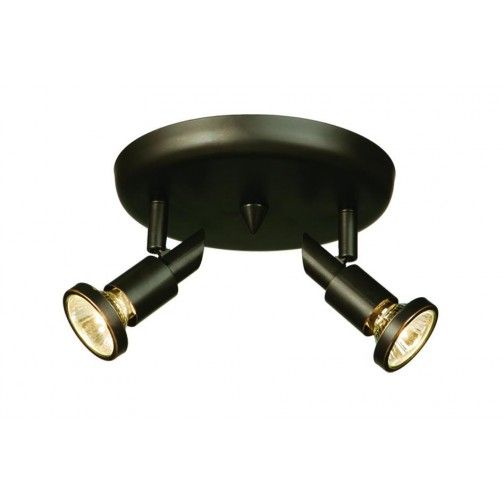 Two Light Oil Rubbed Bronze Directional Flush Mount