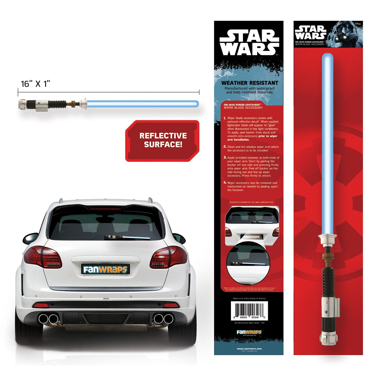 Star Wars Lightsaber Wiper Blade Car Accessories Star Wars Obi Wan Darth Vader Lightsaber Star Wars Accessories