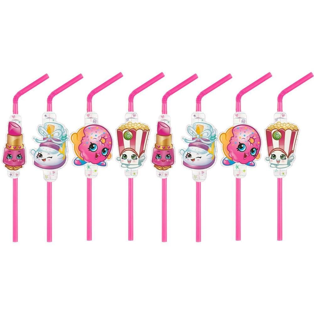 8 Shopkins Party StrawsShopkins party suppliesParty Decorations