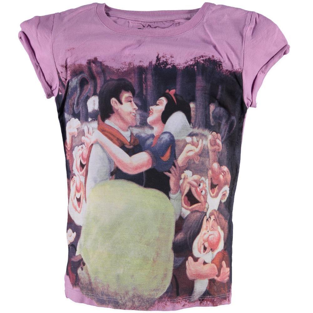 Lilaroze shirt van Relaunch met 'Sneeuwwitje' print op de voorkant | Olliewood