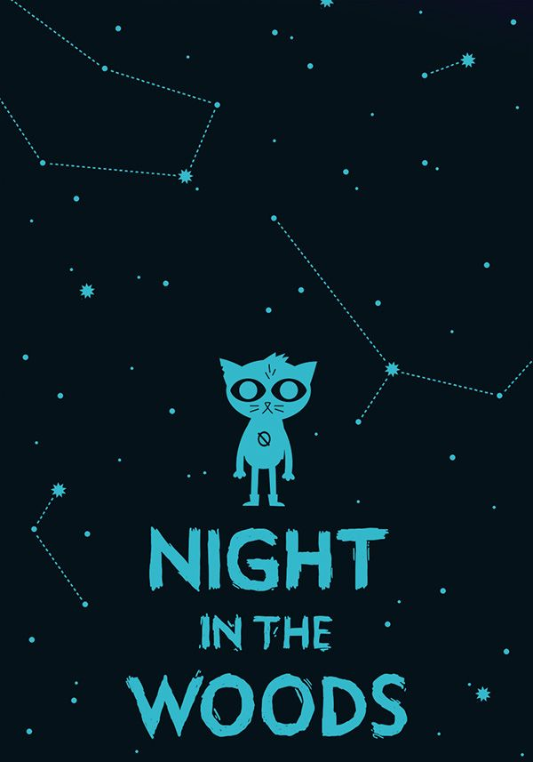 Night In The Woods Fan Art Print On Behance Night In The Wood Paper Art Design Night