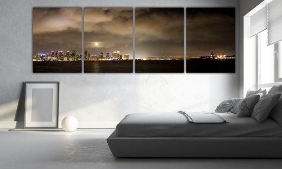 San Diego wall art san diego office wall art skyline canvas | Gap ...