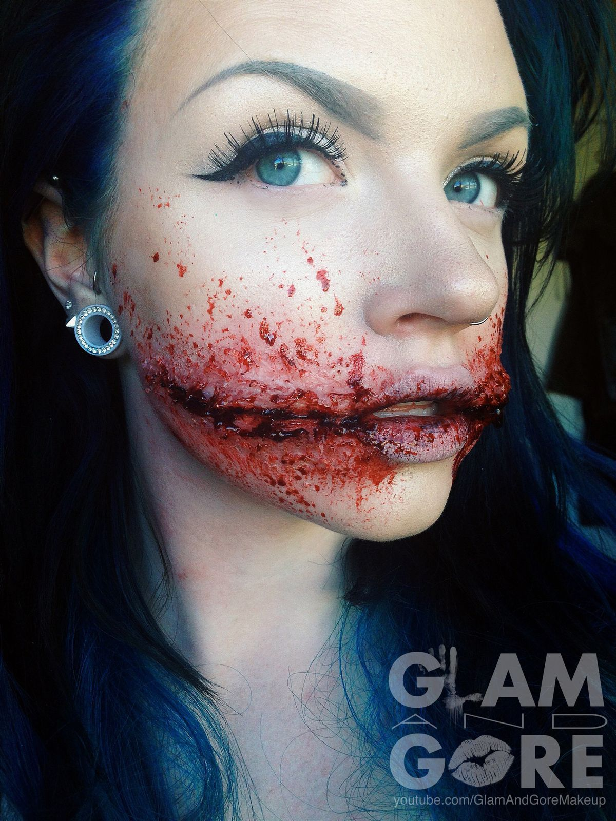 special effects chelsea grin done using degree for more makeup looks and - Where Can I Get Halloween Makeup Done