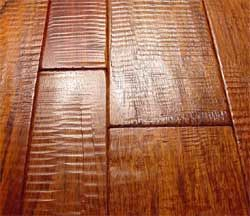 Brazilian Cherry Hand Scraped Wood Floors In Random Width