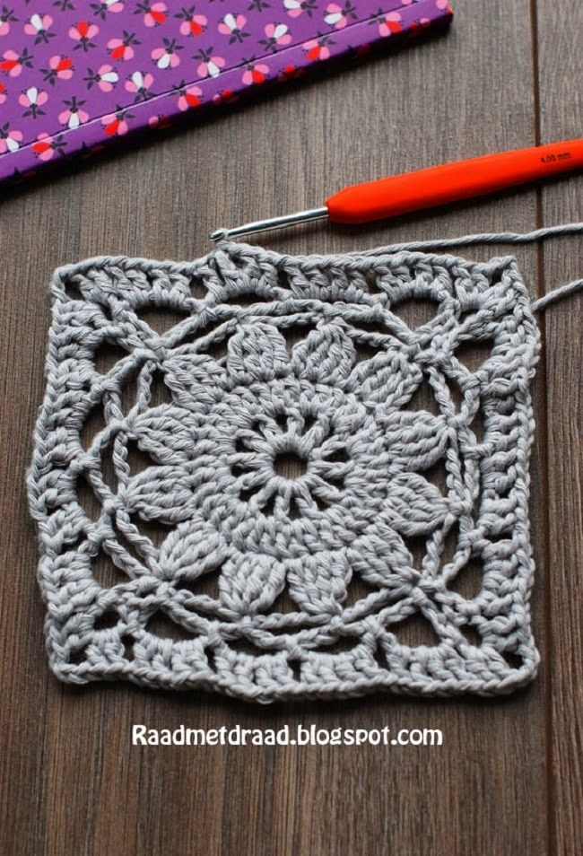 Crochet Carré 75 76 Cuadrados De Ganchillo Puntadas