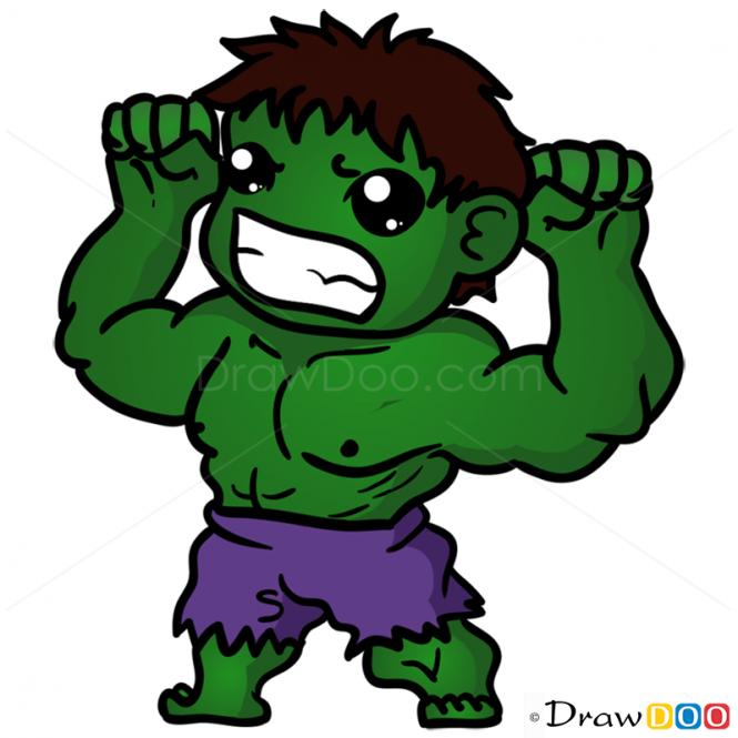 How To Draw Hulk Chibi Chibi Hulk Superhero