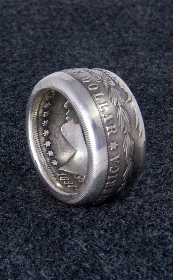 Coinring 1898 Silver Morgan Dollar Coin Ring Size 10 21 Mens Large