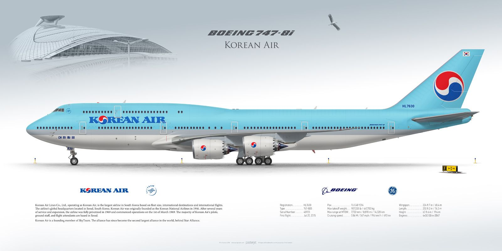 65a7d390a245 Boeing 747-8i Korean Air HL7630