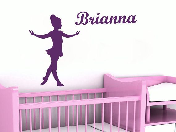 Wall Decal Name Personalized Custom Decals Ballet Dancing Dancer - Custom vinyl wall decals dance