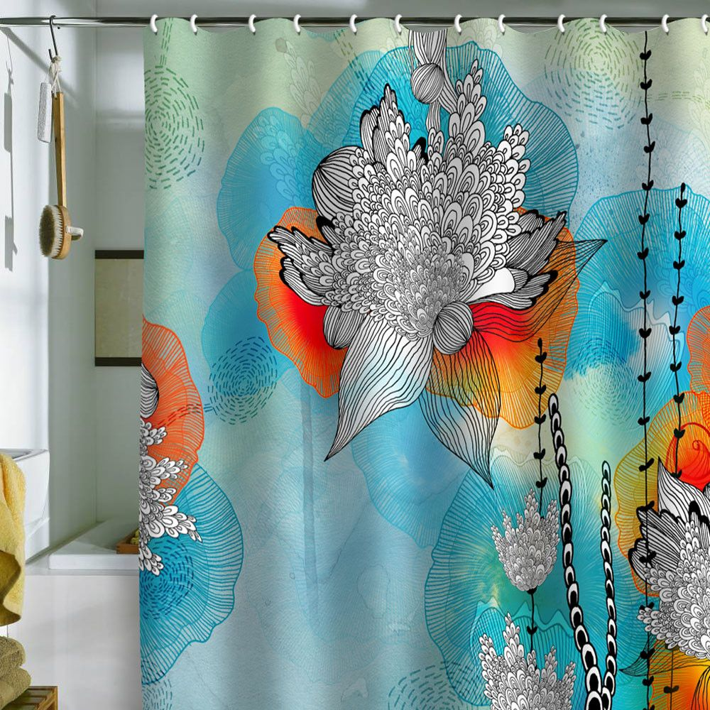 Iveta Abolina Coral Shower Curtain Ridiculously Overpriced Fancy