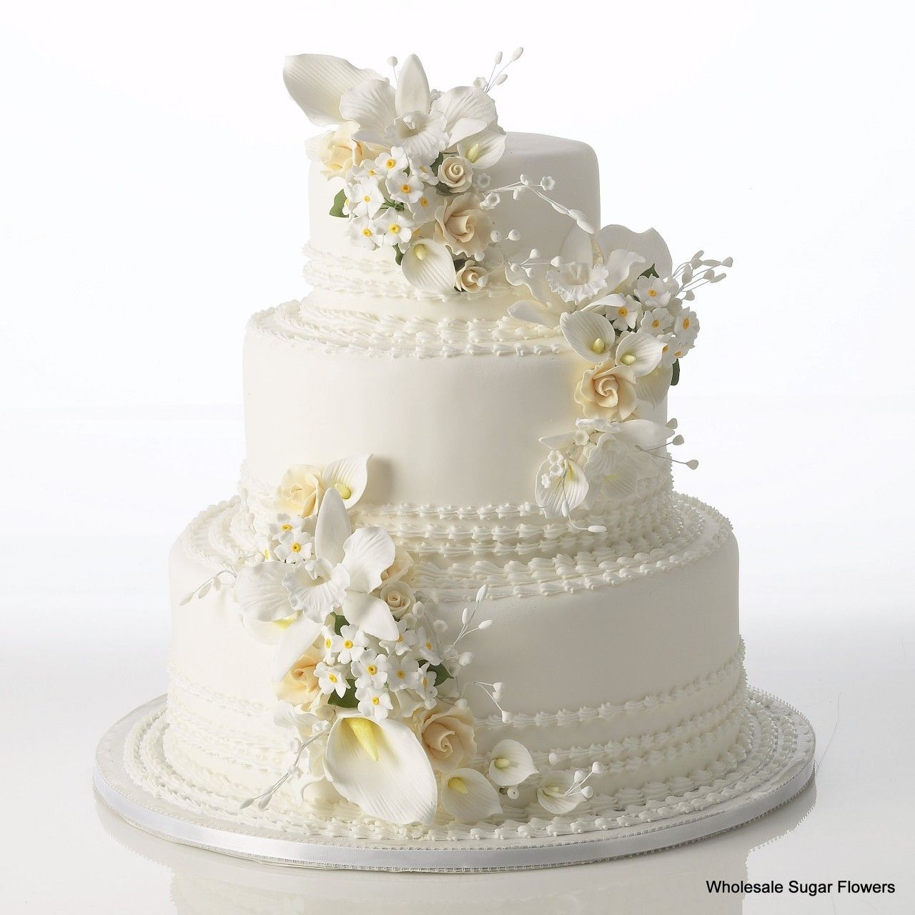 Gumpaste Flowers For Wedding Cakes: Charming Lilies Cake Kit, Pre