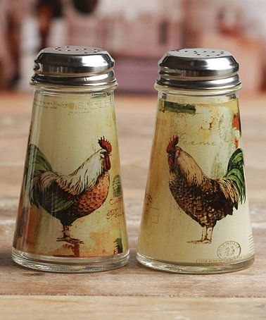 salt and pepper shaker cabinet curio cabinet this rooster salt pepper shakers is perfect zulilyfinds french