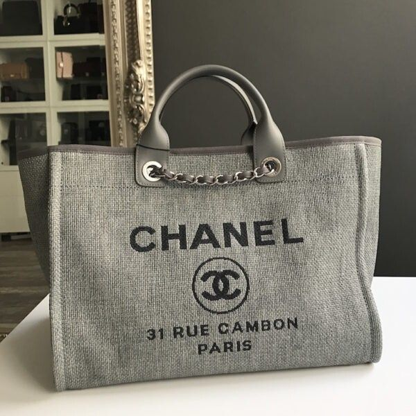 6ade6a24fea197 CHANEL Deauville Tote | Grey | It's all in the bag... in 2019 ...