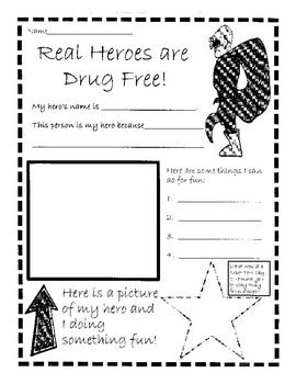 red ribbon week real heroes are drug free red ribbon week red ribbon and worksheets. Black Bedroom Furniture Sets. Home Design Ideas