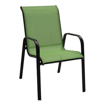 Sienna Sling Stacking Chair Lime Green Model Bdf02400k03
