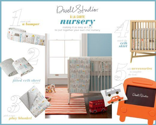 Amazon.com : DwellStudio Play Blanket, Skyline Light Blue : Nursery Blankets : Baby
