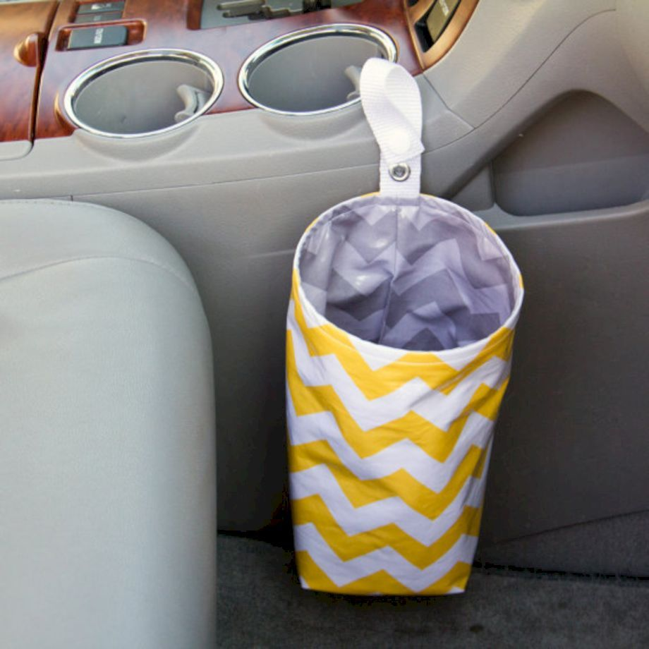 52 Clever And Cool Diy Car Trash Can Ideas For Messy People