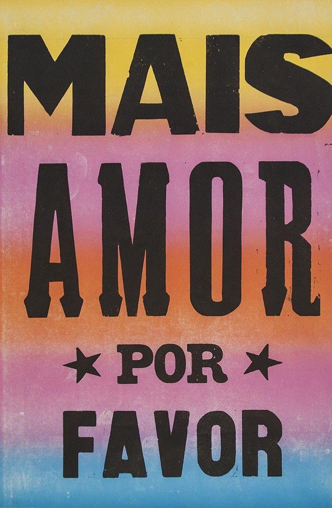 Poster Mais Amor Por Favor Estrelado Colorido 2015 Posters