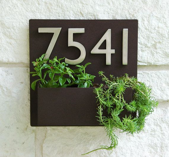 12 x 12 Contemporary Brown Address Plaque and by UrbanMettle, $235.00