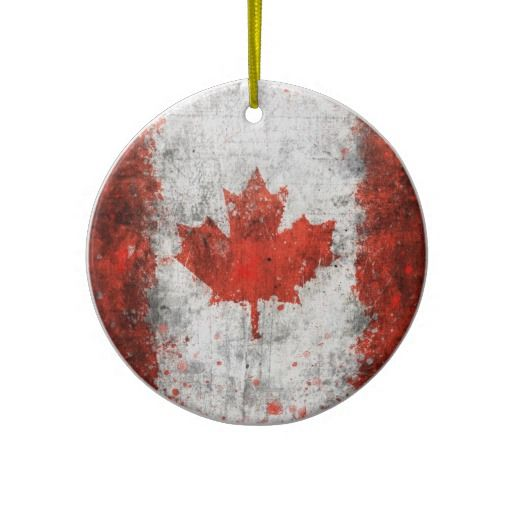 Paint Splatter Canadian Flag Christmas Ornament - Paint Splatter Canadian Flag Ceramic Ornament Christmas In Canada