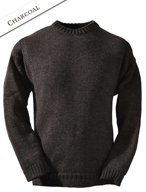 345eb3dde63 Mens Crew Neck Guernsey Sweater | Stockholm | Sweaters, Men sweater ...