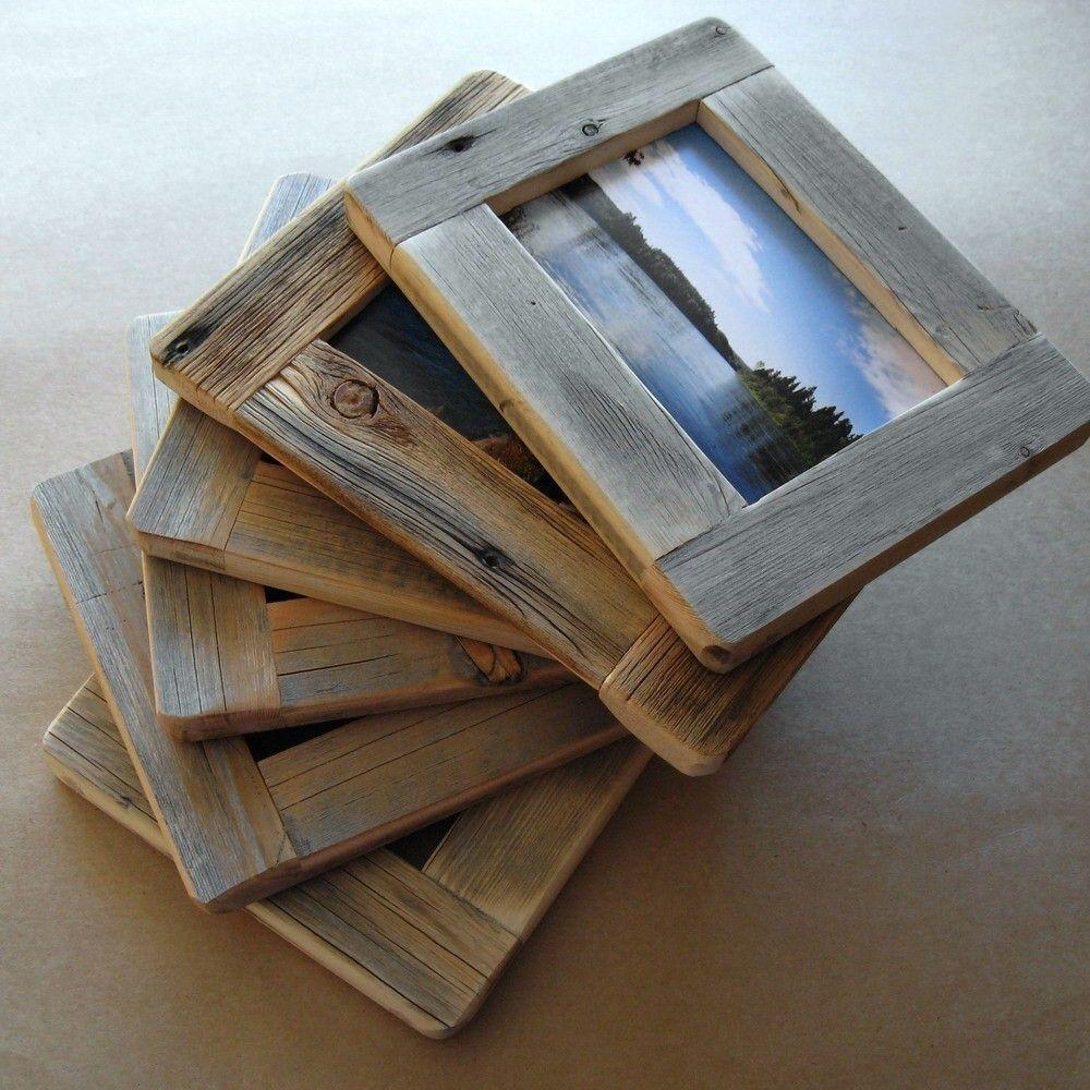 Barnwood FRAME (4x6) handmade from reclaimed weathered wood - rustic ...
