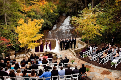 Chota Falls Waterfall Weddings North Georgia Mountain Wedding Venues Outdoor