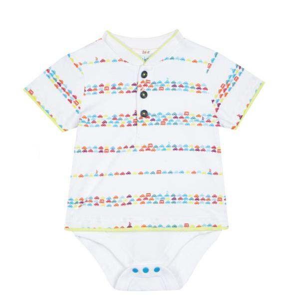 e6f3549c4d0ccb Ted Baker Baby Boys Vest Romper Bodysuit Cars Striped Designer 6-9 Months