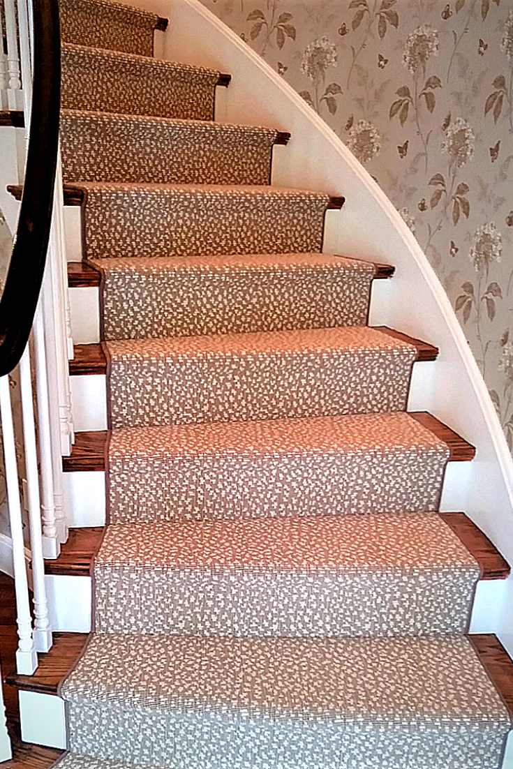 Animal Print Stair Runner Is The Perfect Compliment To The Floral | Stair And Hallway Runners | Landing | Stair Treads | Wool | Non Slip | Images Tagged