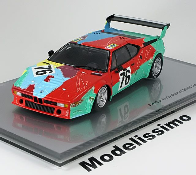bmw m1 24h le mans 1979 andy warhol art car minichamps 1 18 43 0 155 922 1000. Black Bedroom Furniture Sets. Home Design Ideas