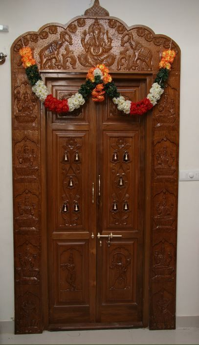 Puja room door design ideas 50+ Ideas (With images ...