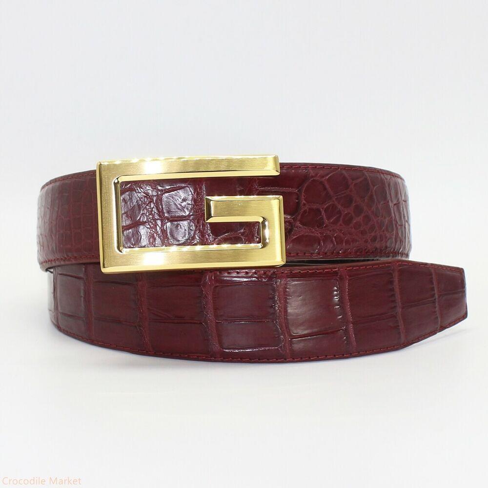 NO JOINTED Belt Handmade Genuine Crocodile Skin Leather