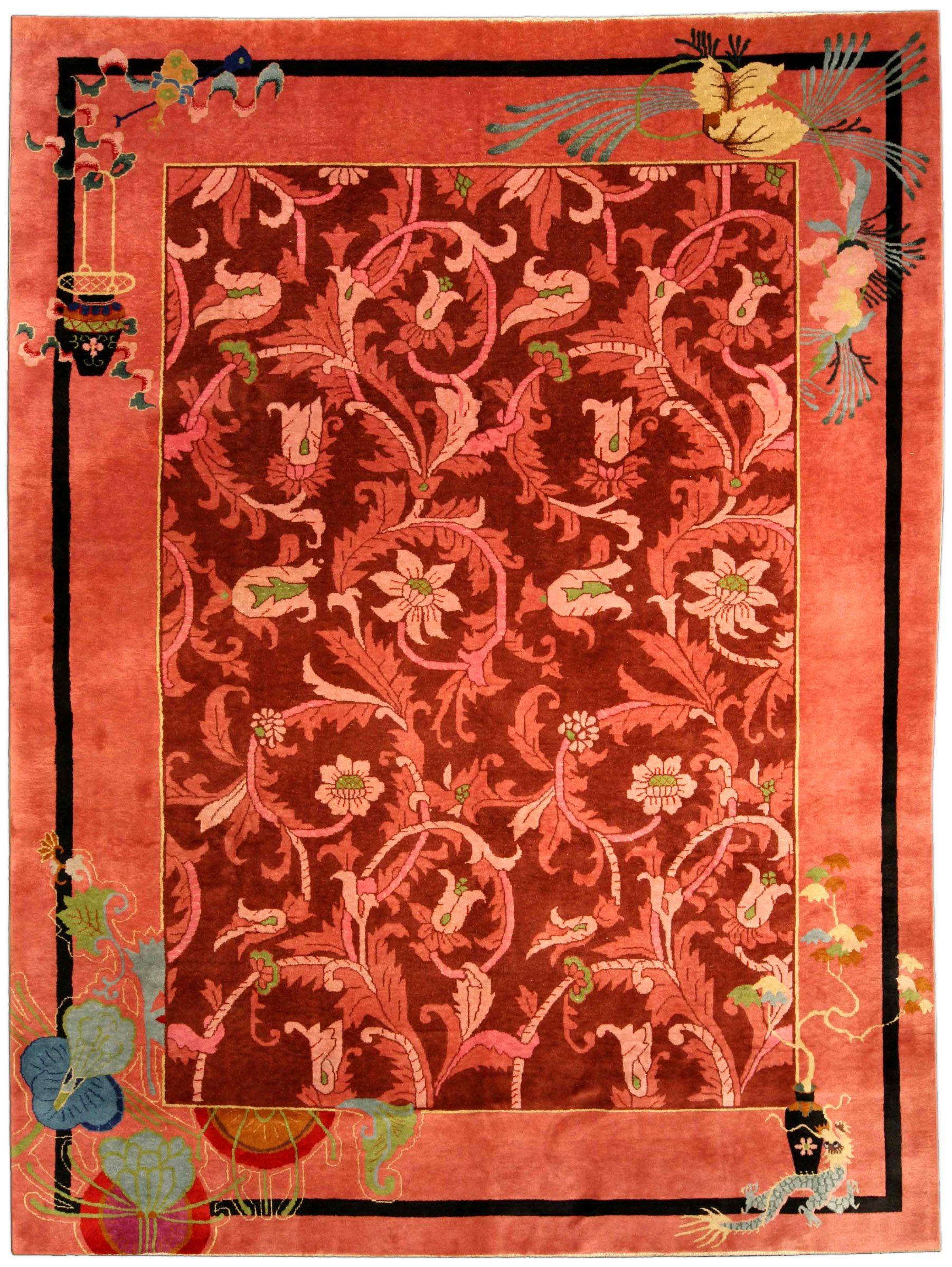 Vintage chinese art deco carpet chinese art art deco and room rugs a chinese art deco carpet bb4169 by doris leslie blau a whimsical second quarter dhlflorist Choice Image