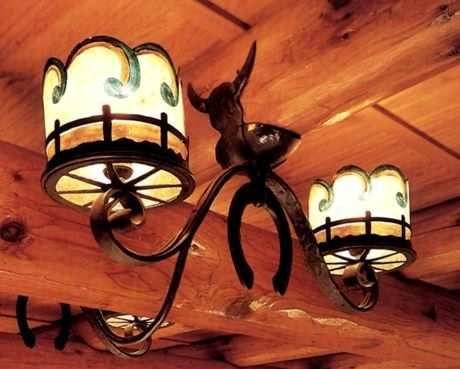 Western Ceiling Fixture Rustic Lighting
