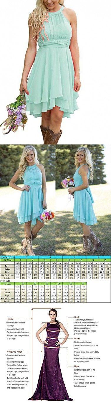 bb87f864770 Meledy Women s Knee Length Country Bridesmaid Dress Western Wedding Guest  Dress