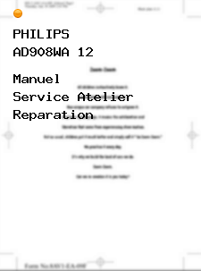 Manuel Service Atelier Reparation Philips Ad908wa 12 Pdf Reparation Philips Manuel