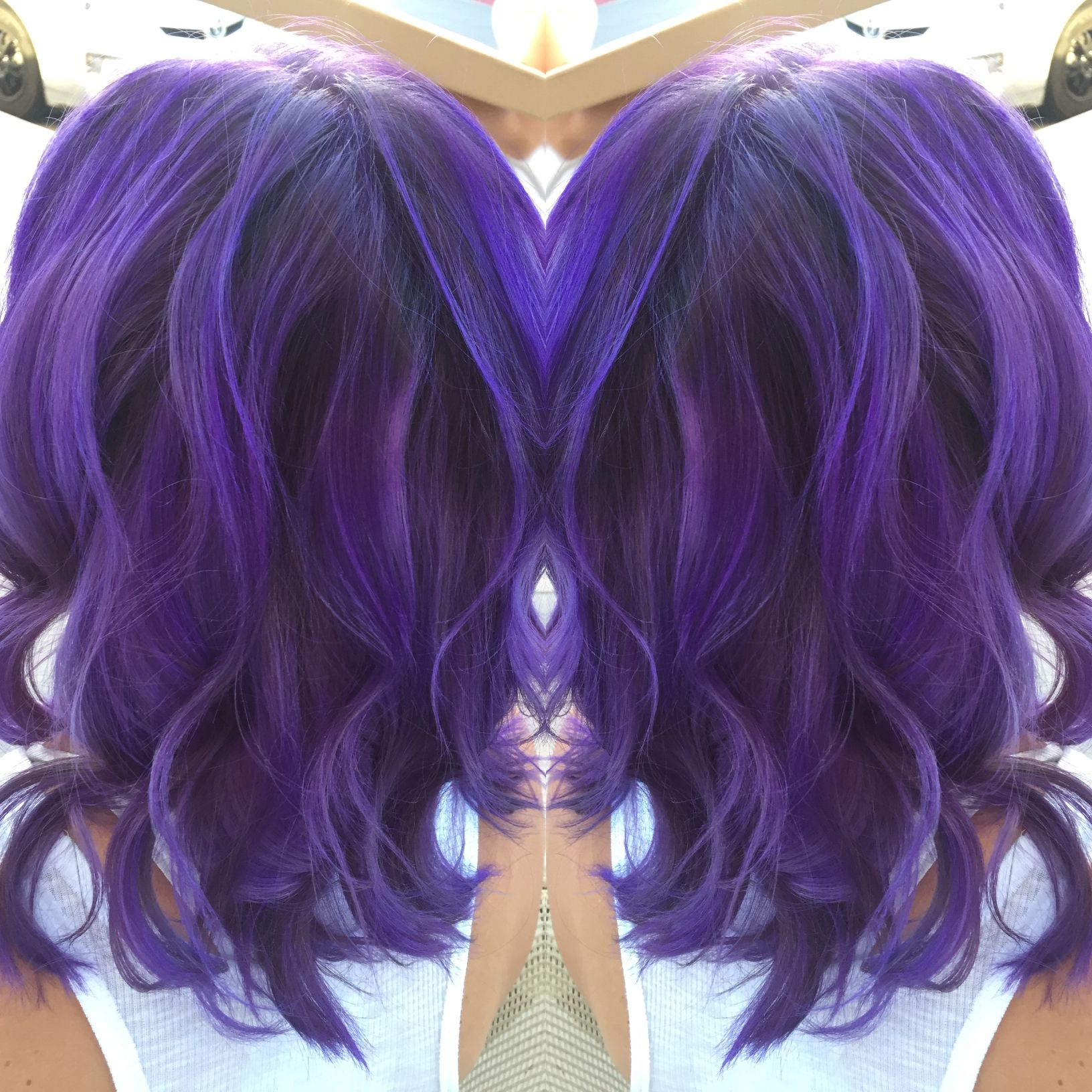 The best purple hair ever done by hairbykatie dream strands