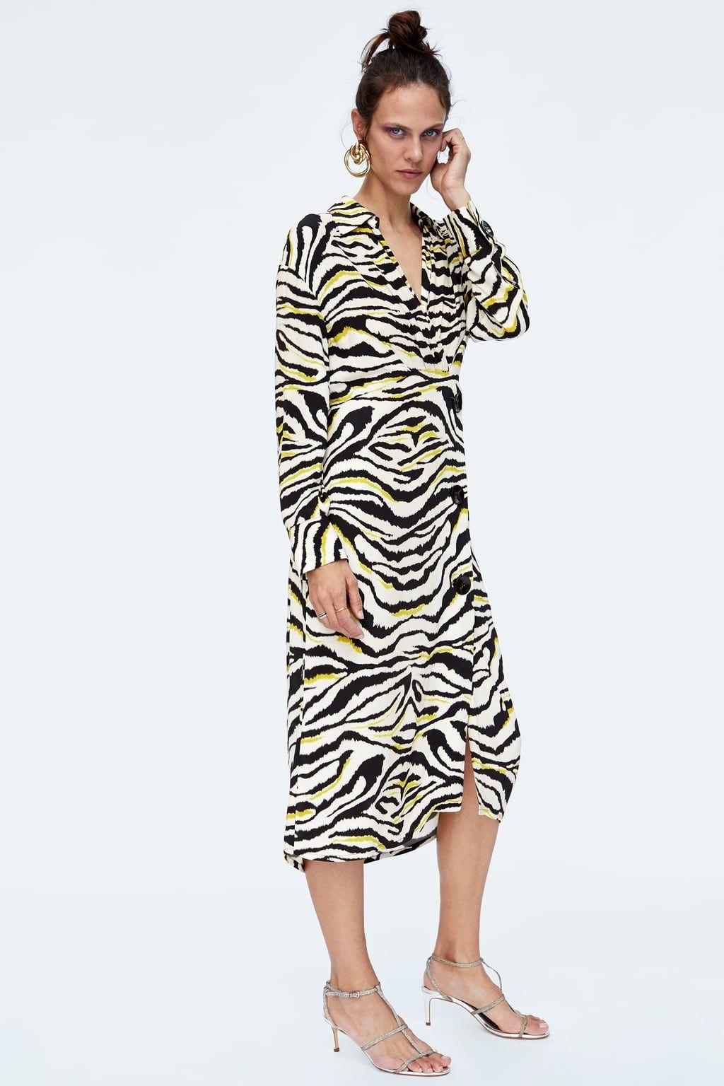 e0afbda8e125 Image 1 of ZEBRA PRINTED DRESS from Zara | Shopping | Midi shirt ...