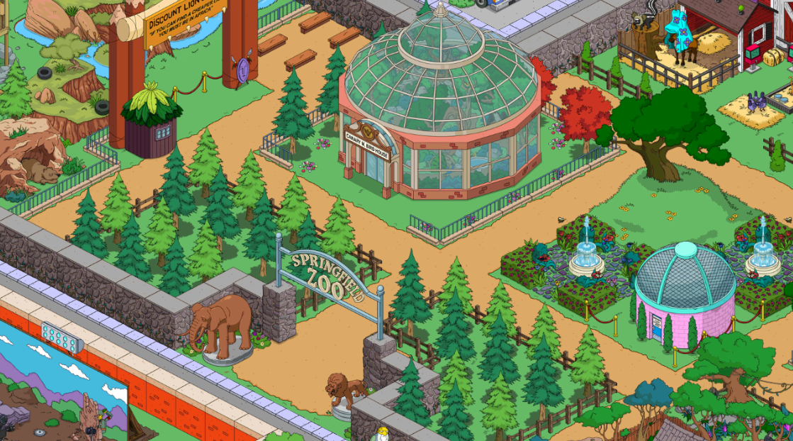 Springfield Zoo Tapped Out The Simpsons