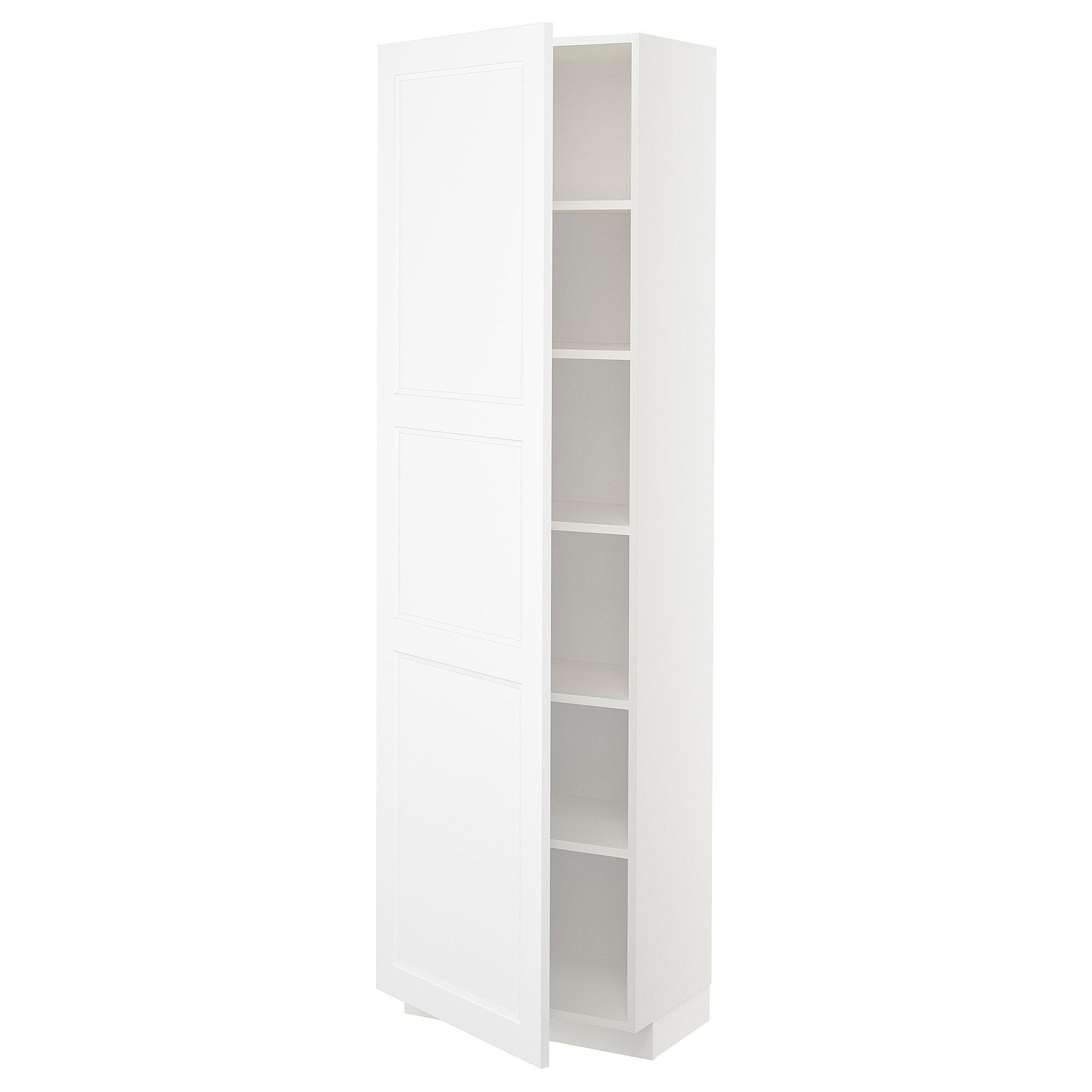 Metod Weiss Hochschrank Mit Einlegeboden Frame Colour Weiss Axstad Hochschrank Schliessfacher Ikea