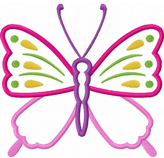 Spring Butterfly Applique Machine Embroidery Design NO:0024 ...