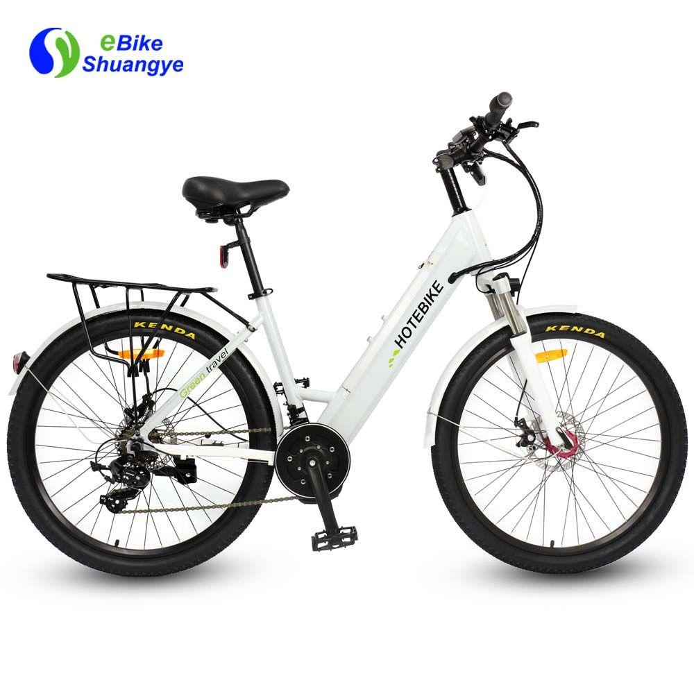 Mid Drive Motor Electric Bike Full Size Integrated Design Frame 26